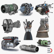 Aircraft Engines Collection 3d model