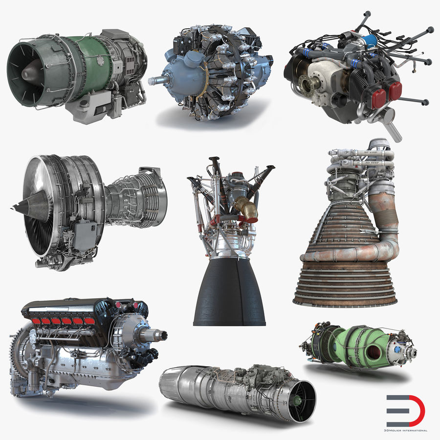 Aircraft Engines Collection royalty-free 3d model - Preview no. 1