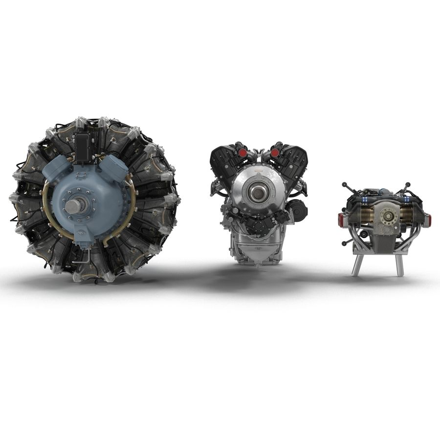 Aircraft Engines Collection royalty-free 3d model - Preview no. 5