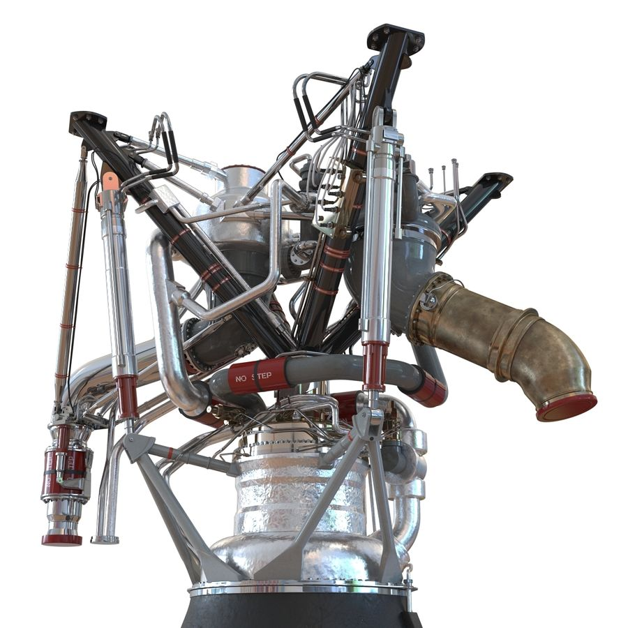 Aircraft Engines Collection royalty-free 3d model - Preview no. 88