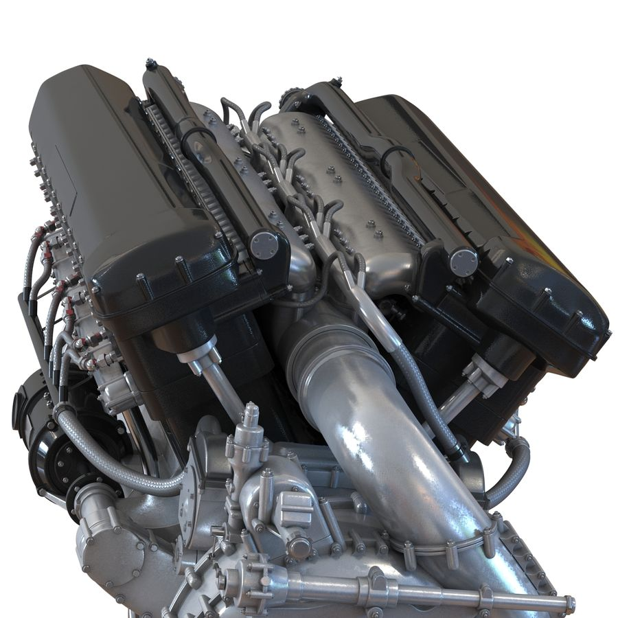 Aircraft Engines Collection royalty-free 3d model - Preview no. 31
