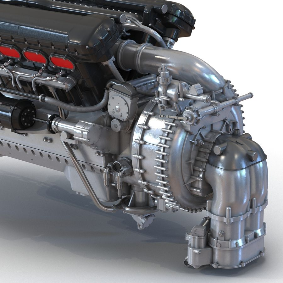 Aircraft Engines Collection royalty-free 3d model - Preview no. 23