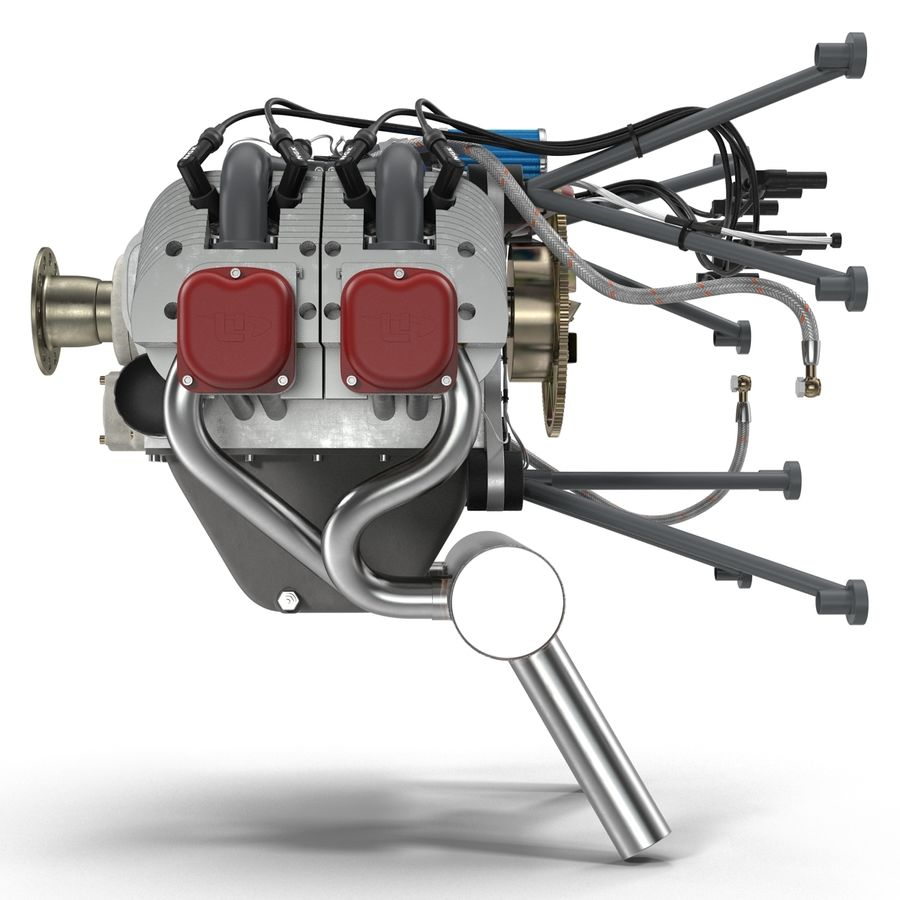 Aircraft Engines Collection royalty-free 3d model - Preview no. 35