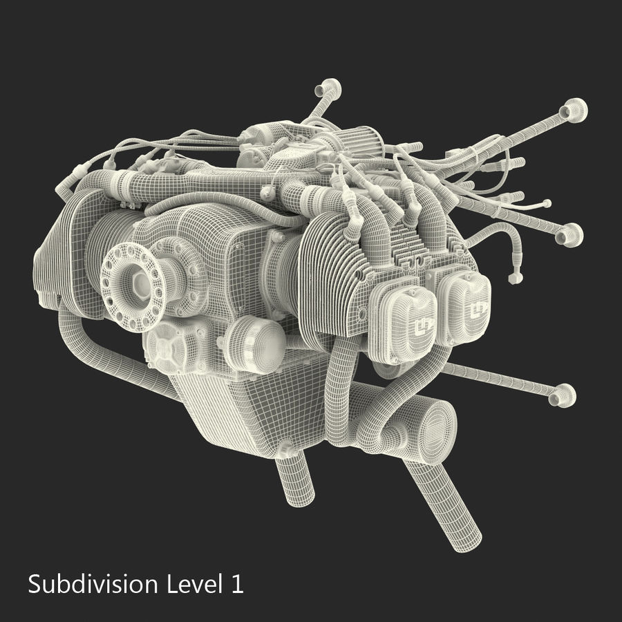 Aircraft Engines Collection royalty-free 3d model - Preview no. 199