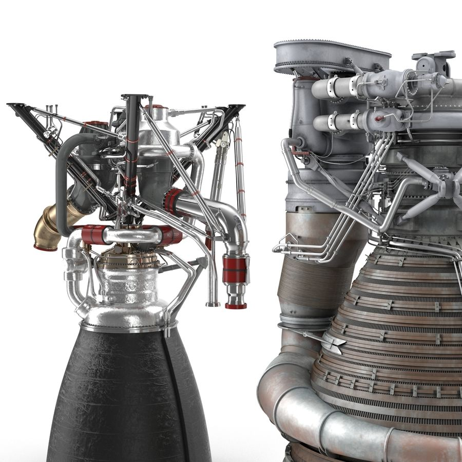 Aircraft Engines Collection royalty-free 3d model - Preview no. 7