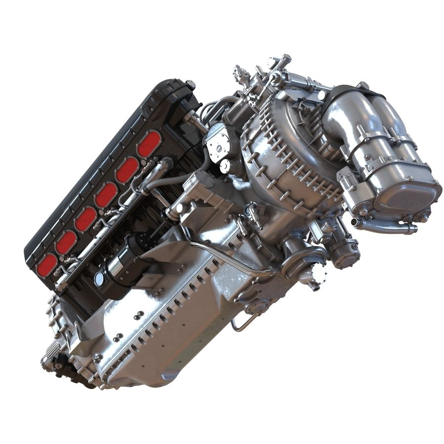 Aircraft Engines Collection royalty-free 3d model - Preview no. 28
