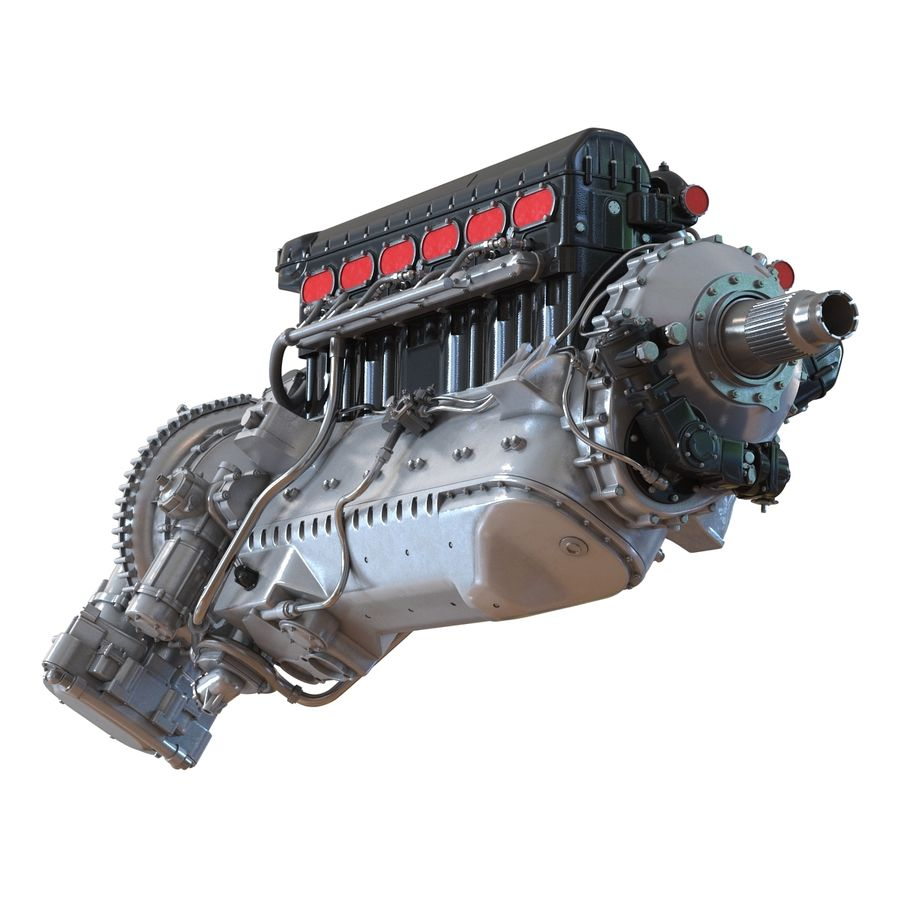 Aircraft Engines Collection royalty-free 3d model - Preview no. 29