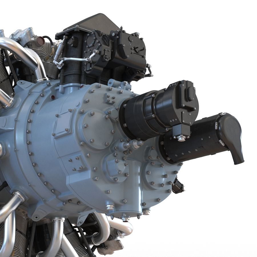 Aircraft Engines Collection royalty-free 3d model - Preview no. 58