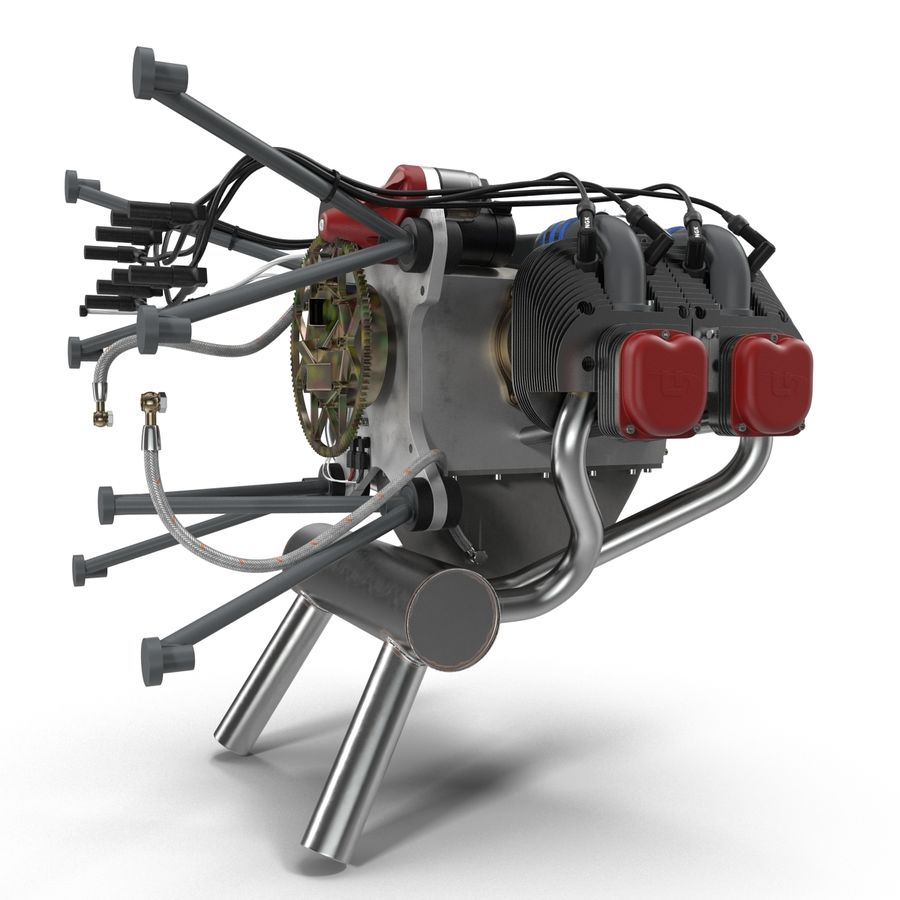 Aircraft Engines Collection royalty-free 3d model - Preview no. 41