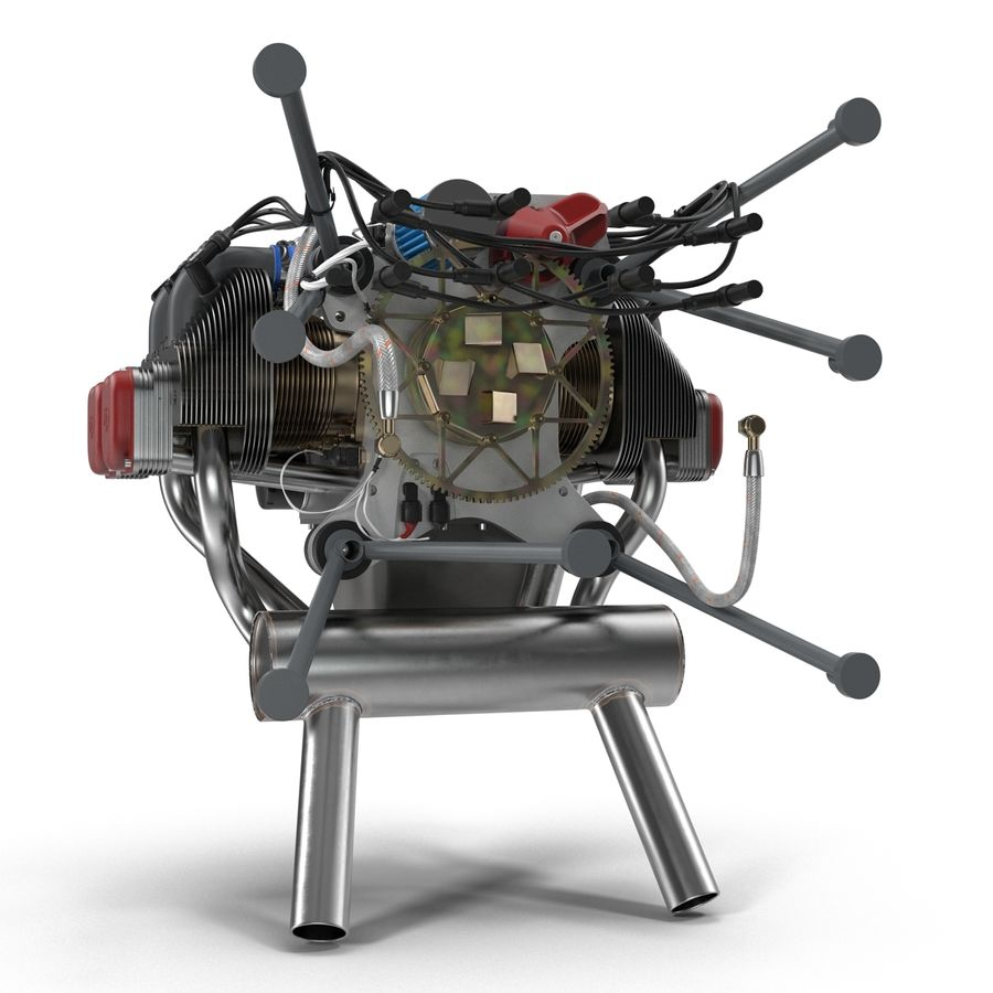 Aircraft Engines Collection royalty-free 3d model - Preview no. 36