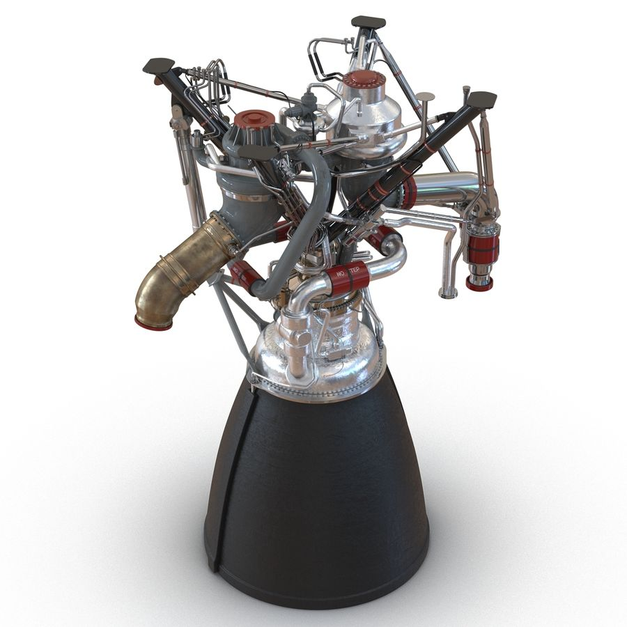 Aircraft Engines Collection royalty-free 3d model - Preview no. 80