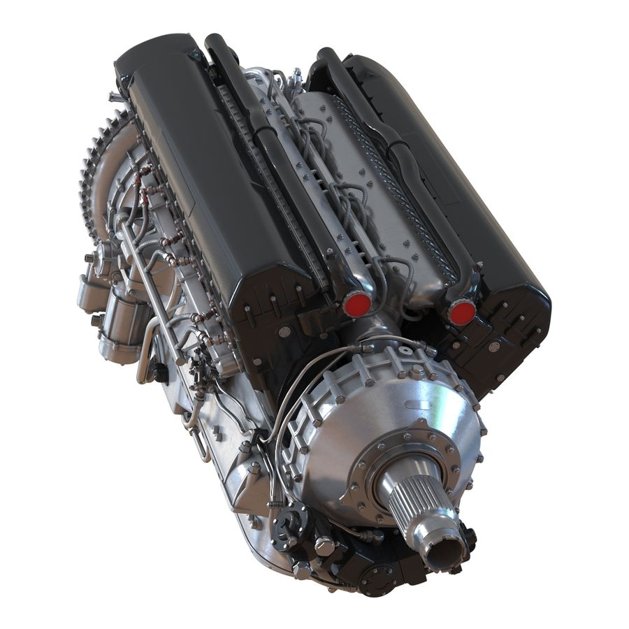 Aircraft Engines Collection royalty-free 3d model - Preview no. 30