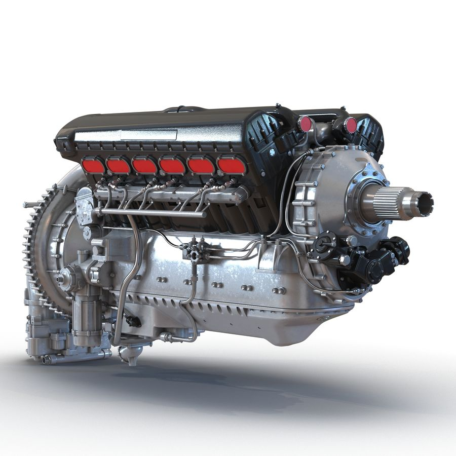 Aircraft Engines Collection royalty-free 3d model - Preview no. 11