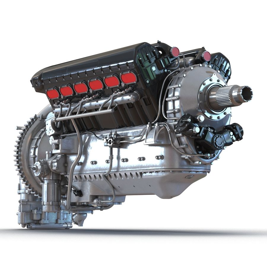 Aircraft Engines Collection royalty-free 3d model - Preview no. 19