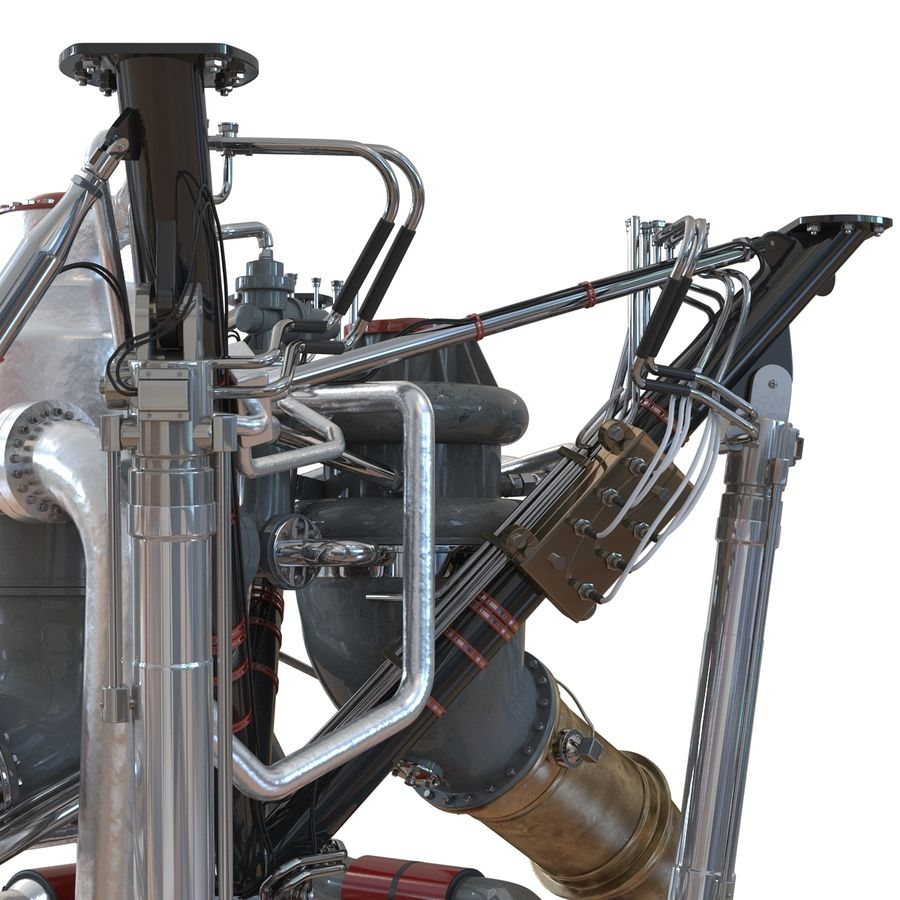 Aircraft Engines Collection royalty-free 3d model - Preview no. 97