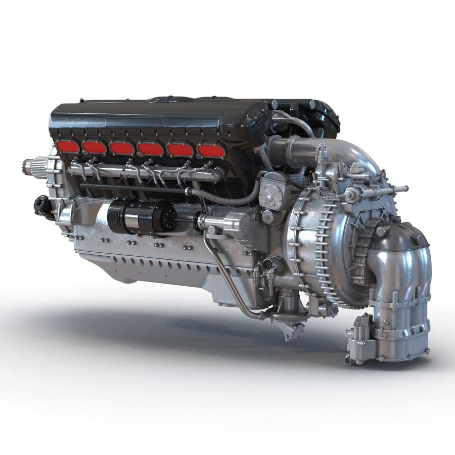 Aircraft Engines Collection royalty-free 3d model - Preview no. 13