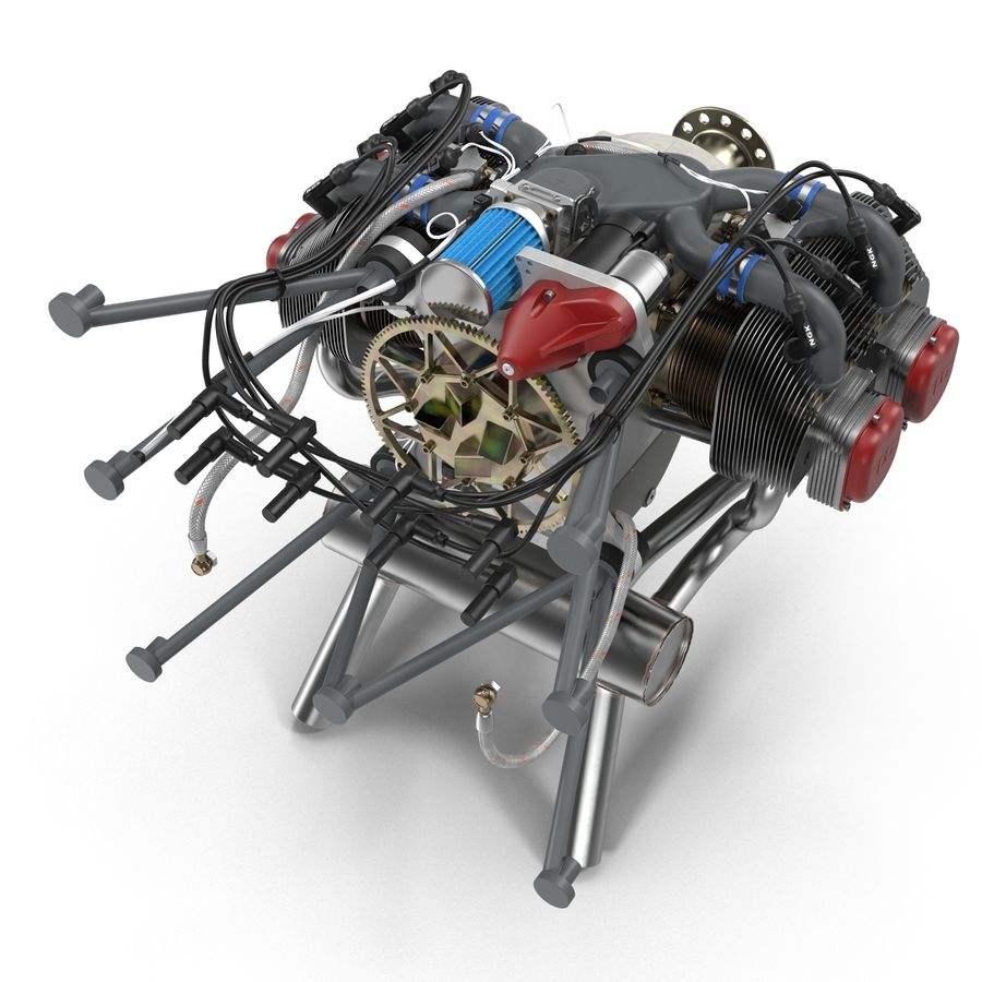 Aircraft Engines Collection royalty-free 3d model - Preview no. 37