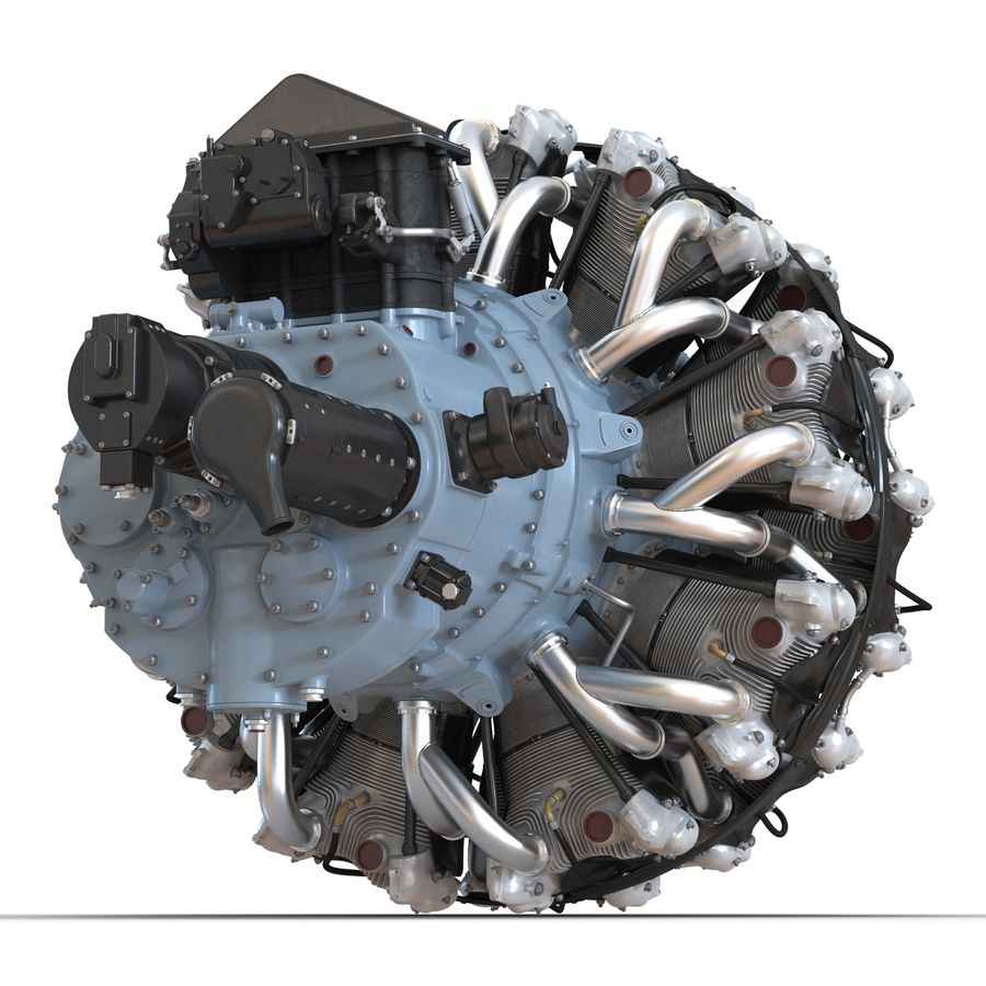 Aircraft Engines Collection royalty-free 3d model - Preview no. 53