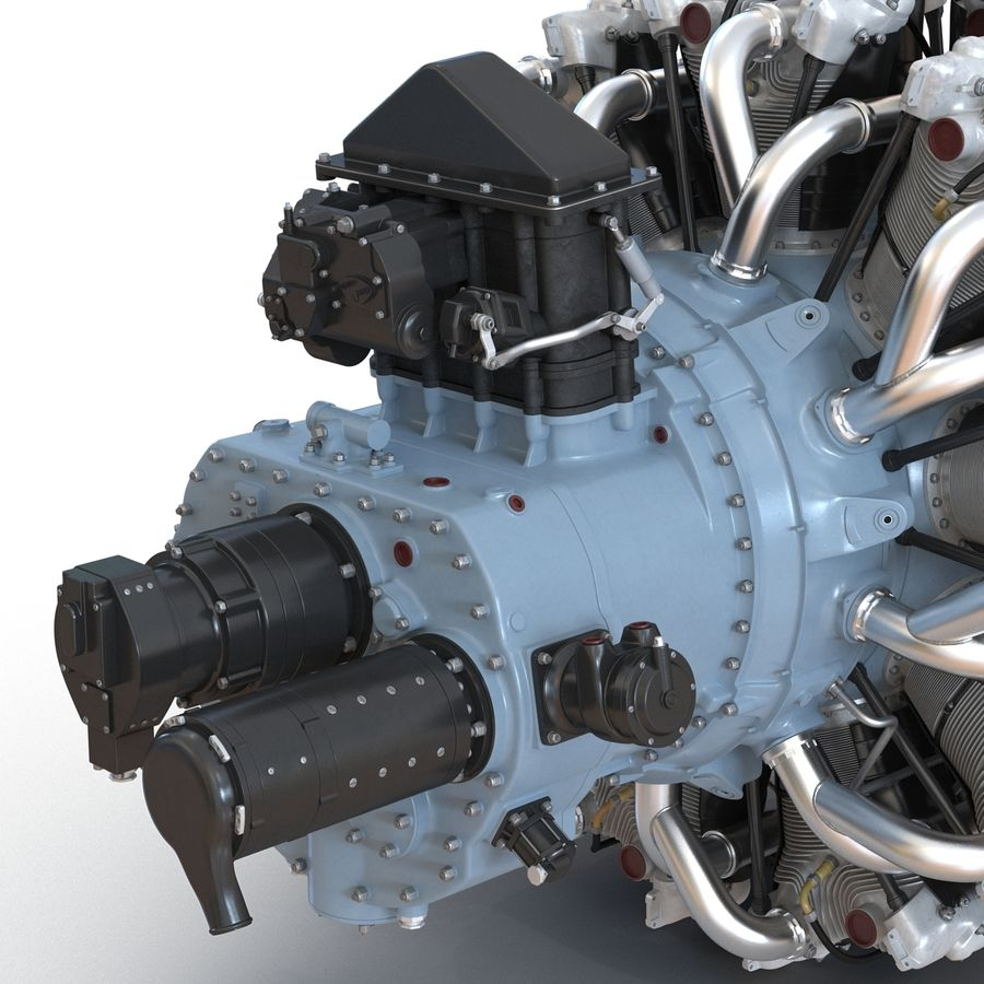 Aircraft Engines Collection royalty-free 3d model - Preview no. 57