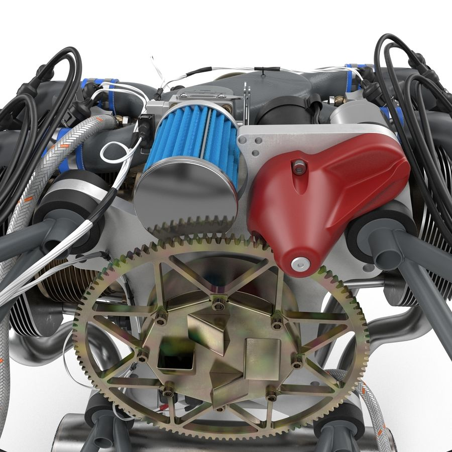 Aircraft Engines Collection royalty-free 3d model - Preview no. 42