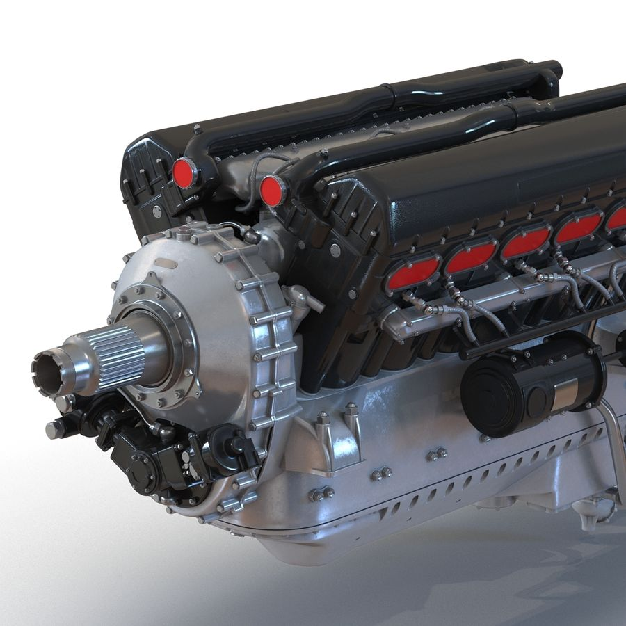 Aircraft Engines Collection royalty-free 3d model - Preview no. 20