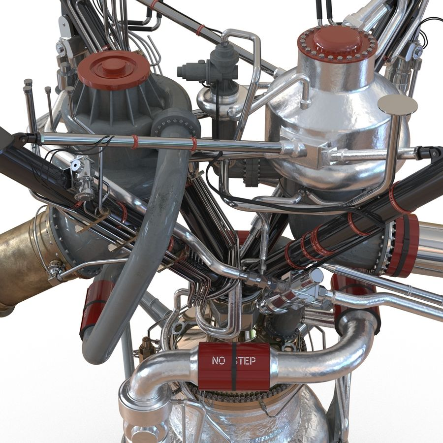 Aircraft Engines Collection royalty-free 3d model - Preview no. 94