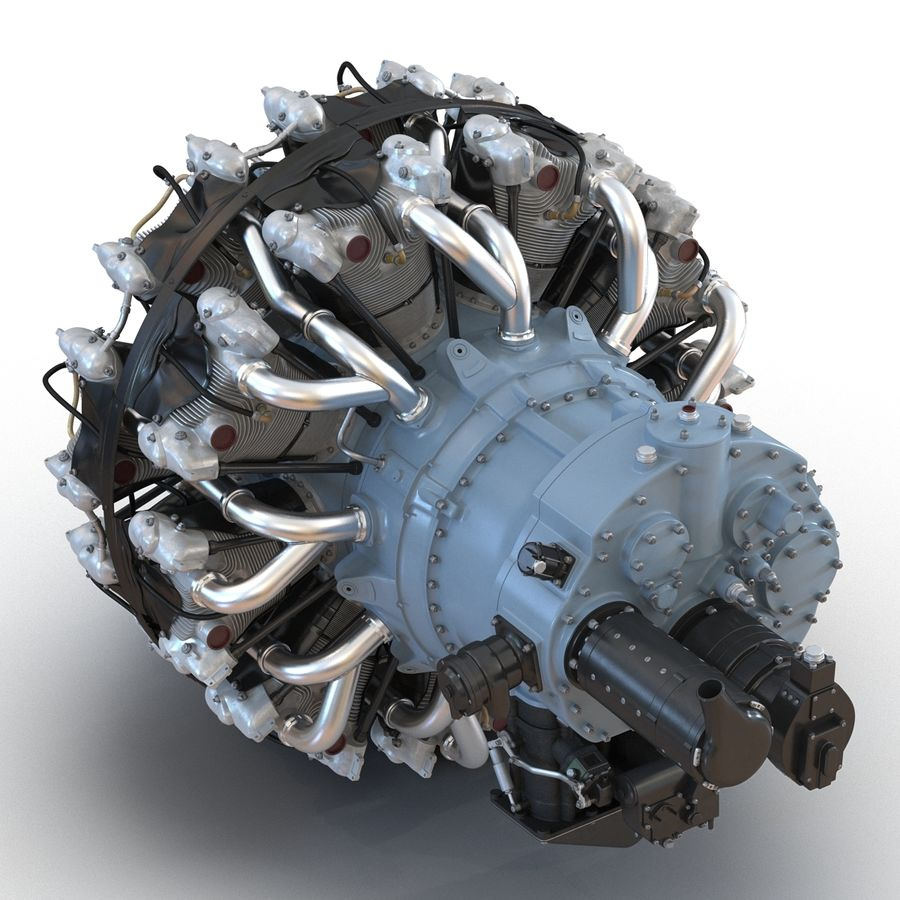 Aircraft Engines Collection royalty-free 3d model - Preview no. 55