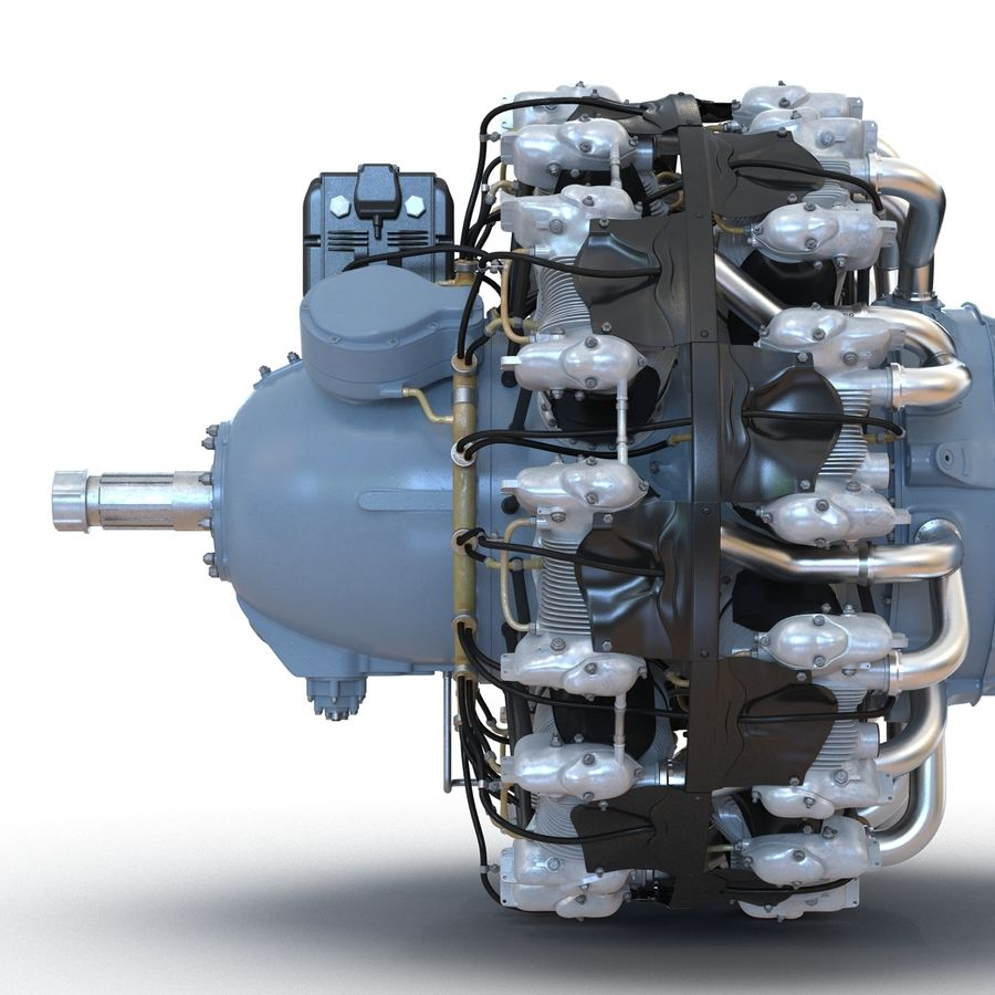 Aircraft Engines Collection royalty-free 3d model - Preview no. 56