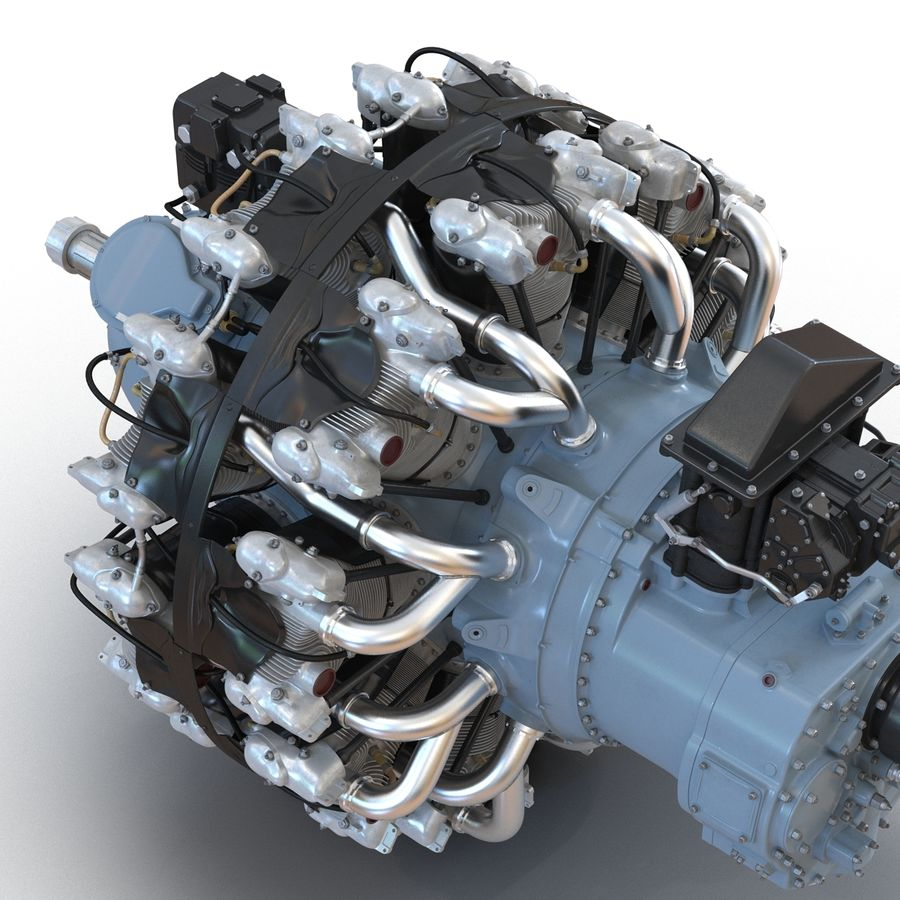 Aircraft Engines Collection royalty-free 3d model - Preview no. 59