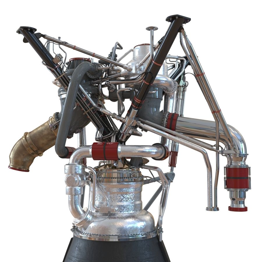 Aircraft Engines Collection royalty-free 3d model - Preview no. 89