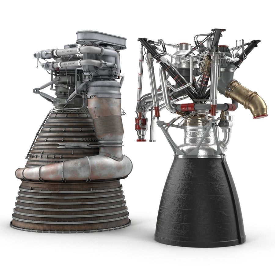 Aircraft Engines Collection royalty-free 3d model - Preview no. 3