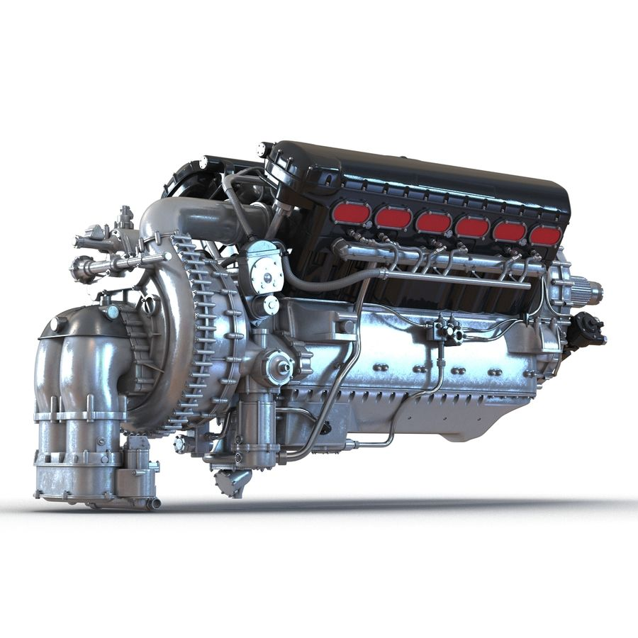 Aircraft Engines Collection royalty-free 3d model - Preview no. 16