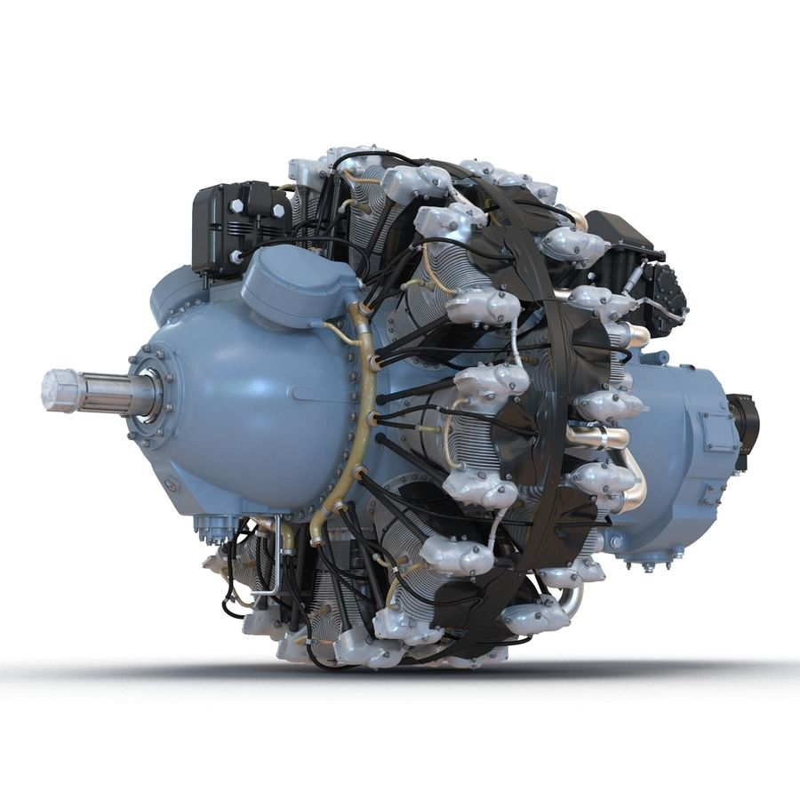 Aircraft Engines Collection royalty-free 3d model - Preview no. 49