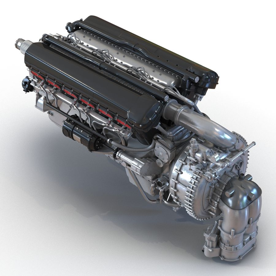 Aircraft Engines Collection royalty-free 3d model - Preview no. 17