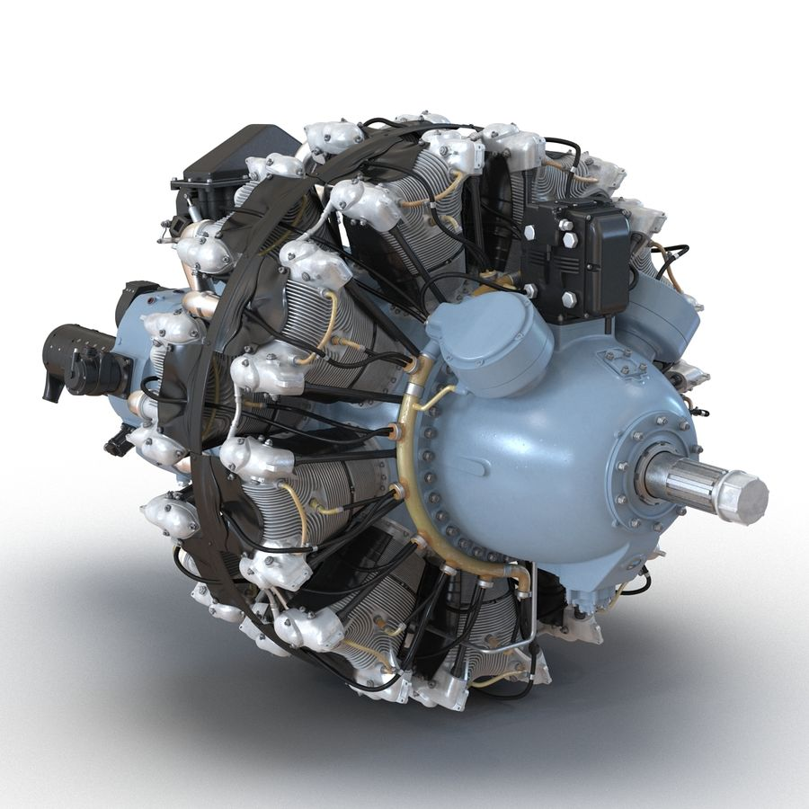 Aircraft Engines Collection royalty-free 3d model - Preview no. 48