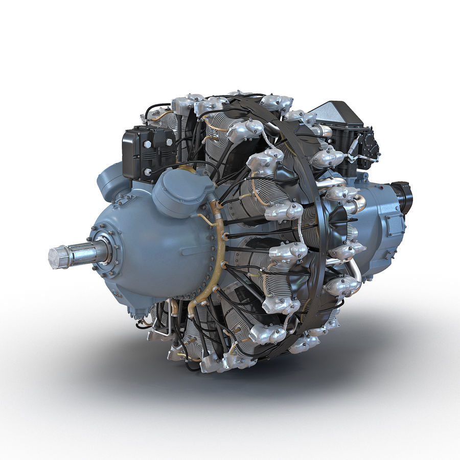 Aircraft Engines Collection royalty-free 3d model - Preview no. 46