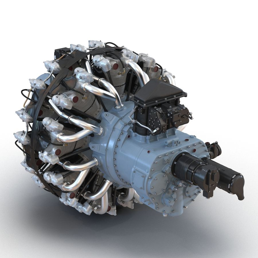 Aircraft Engines Collection royalty-free 3d model - Preview no. 51