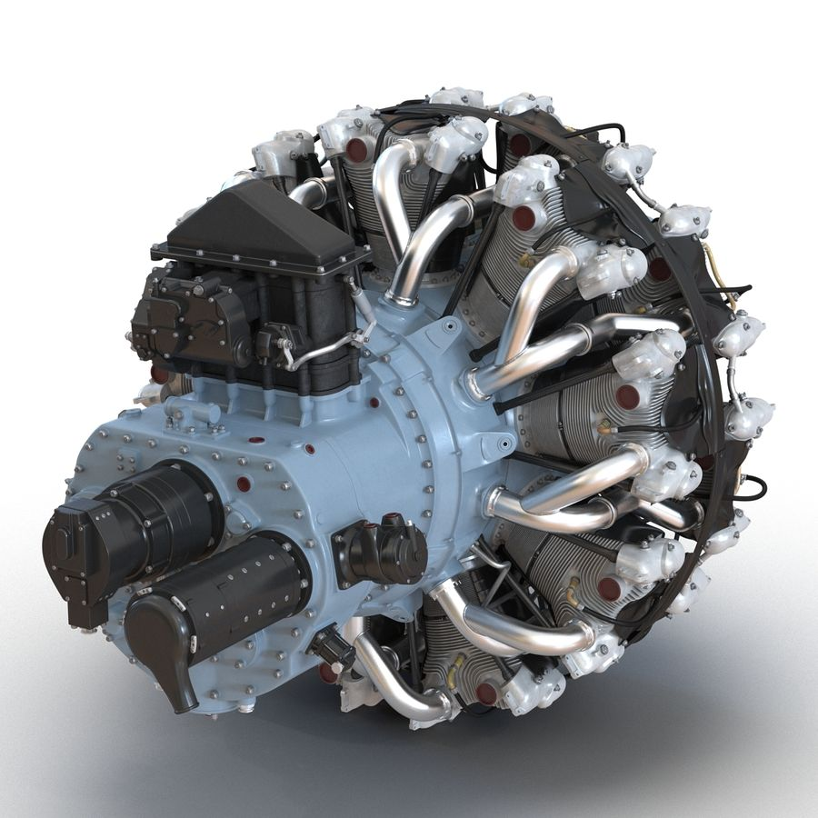 Aircraft Engines Collection royalty-free 3d model - Preview no. 52