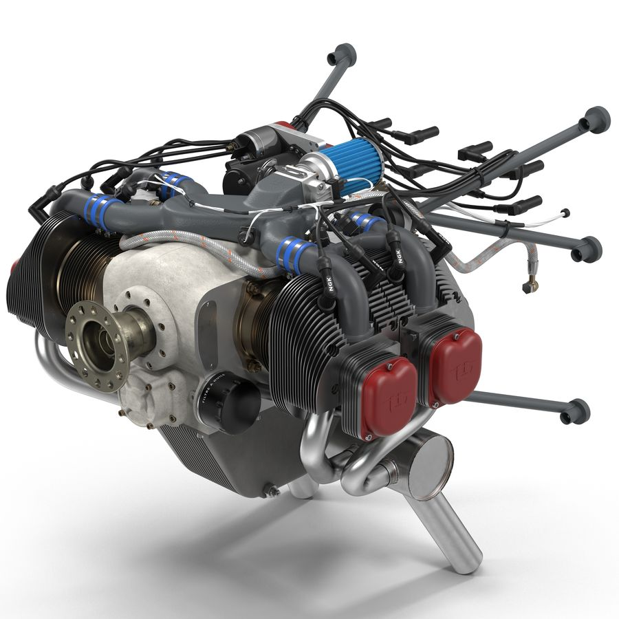 Aircraft Engines Collection royalty-free 3d model - Preview no. 32