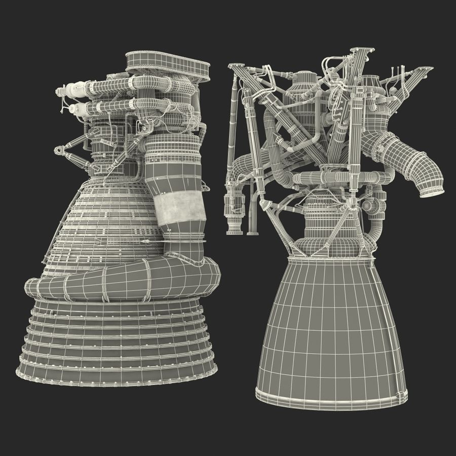 Aircraft Engines Collection royalty-free 3d model - Preview no. 217