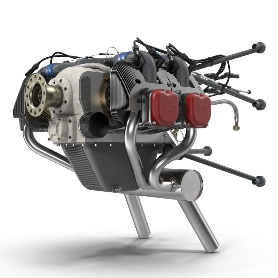 Aircraft Engines Collection royalty-free 3d model - Preview no. 34