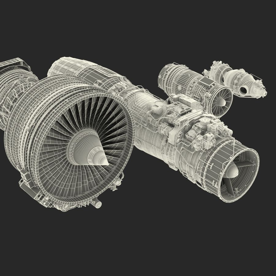 Aircraft Engines Collection royalty-free 3d model - Preview no. 219