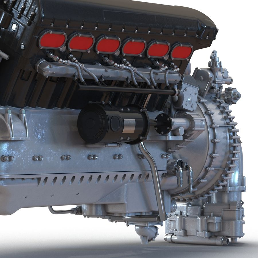 Aircraft Engines Collection royalty-free 3d model - Preview no. 22