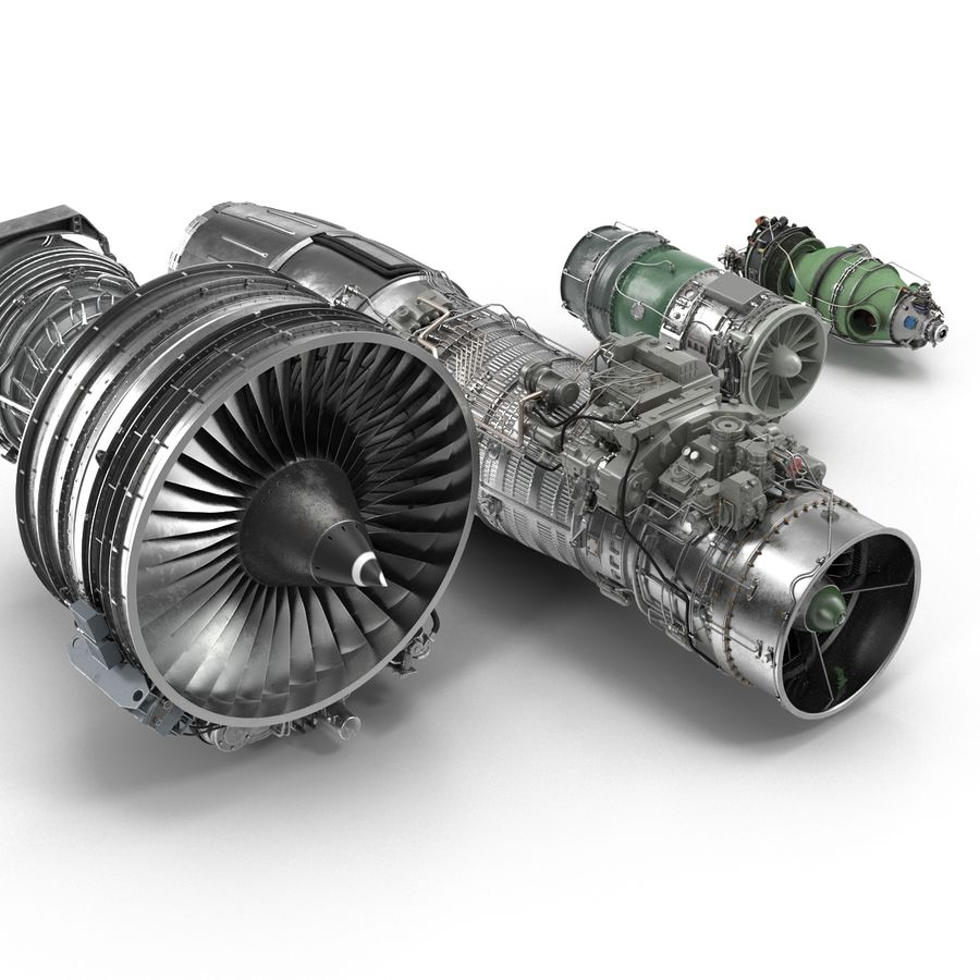 Aircraft Engines Collection royalty-free 3d model - Preview no. 10