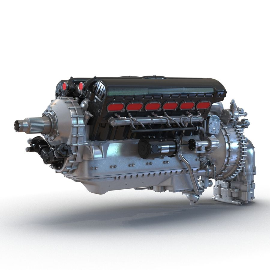 Aircraft Engines Collection royalty-free 3d model - Preview no. 15