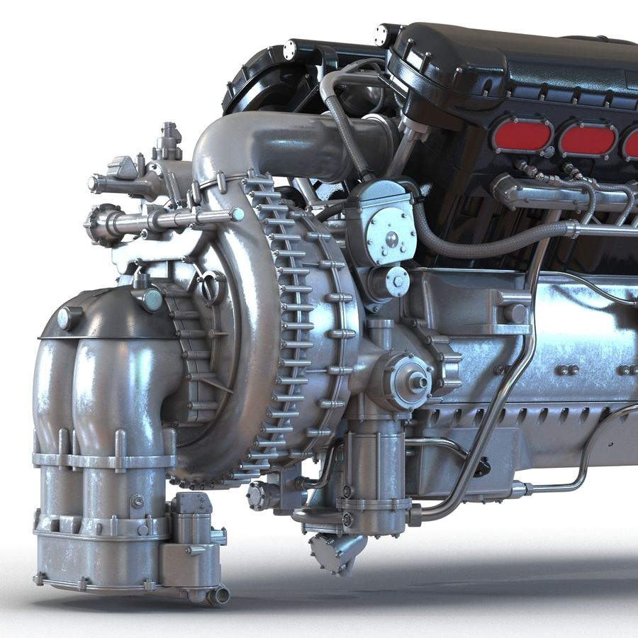 Aircraft Engines Collection royalty-free 3d model - Preview no. 24