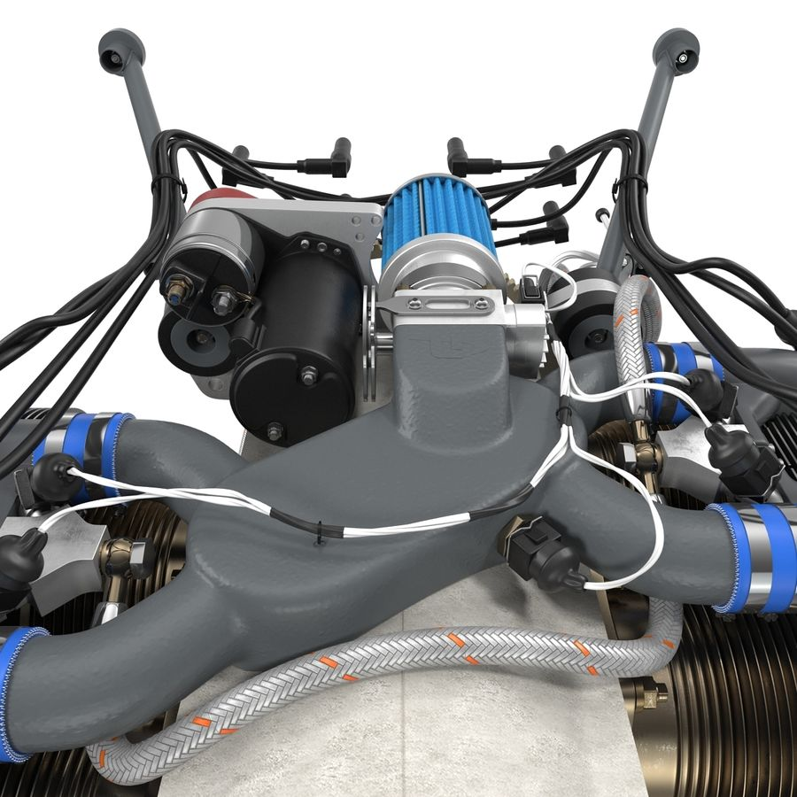 Aircraft Engines Collection royalty-free 3d model - Preview no. 43
