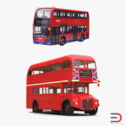 London Buses Simple Interior 3D Models Collection 3d model