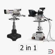 Colección de cámaras de estudio de televisión modelo 3d