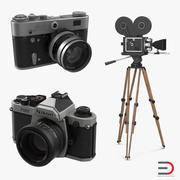 Vintage kameror 3D-modeller samling 2 3d model